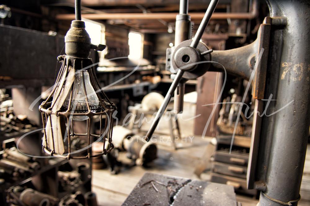 Broad Top Railroad Machine Shop Art | Brandon Hirt Photo