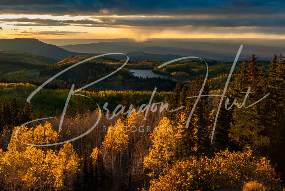 Grand Mesa Sunset Art   Brandon Hirt Photo