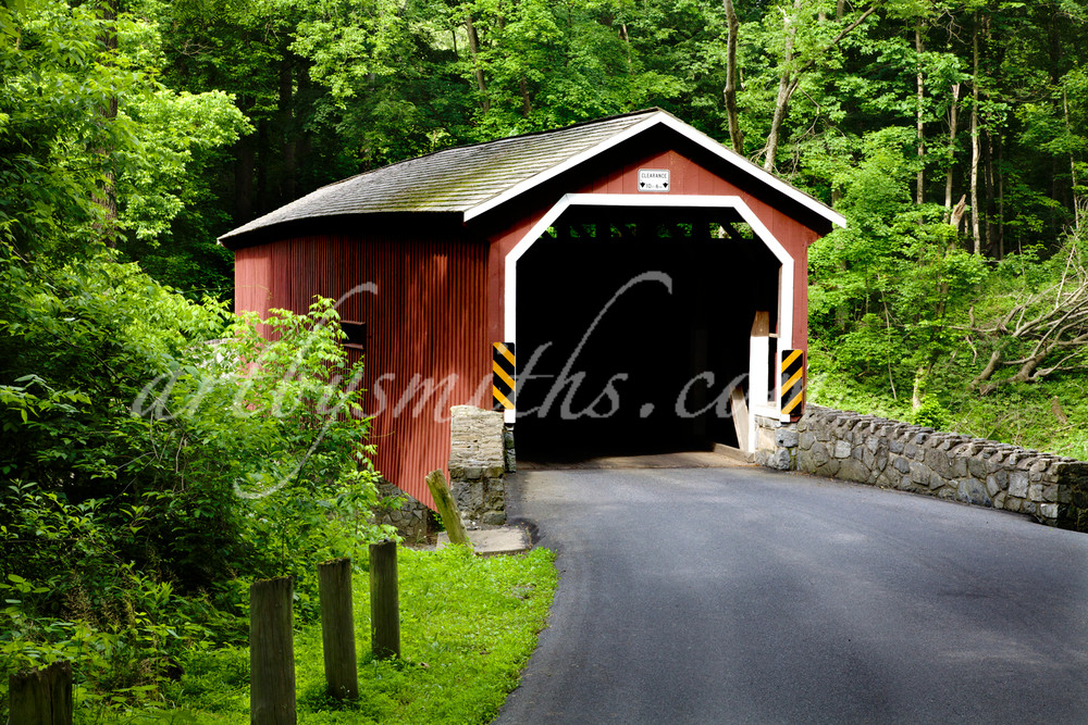 Lancaster Red Covered Bridge Summer | Art By Smith - Landscape Photography
