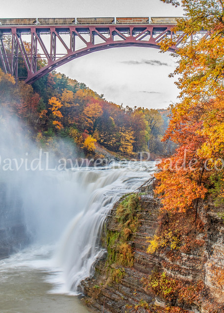 Fall Falls And Train Photography Art | David Lawrence Reade