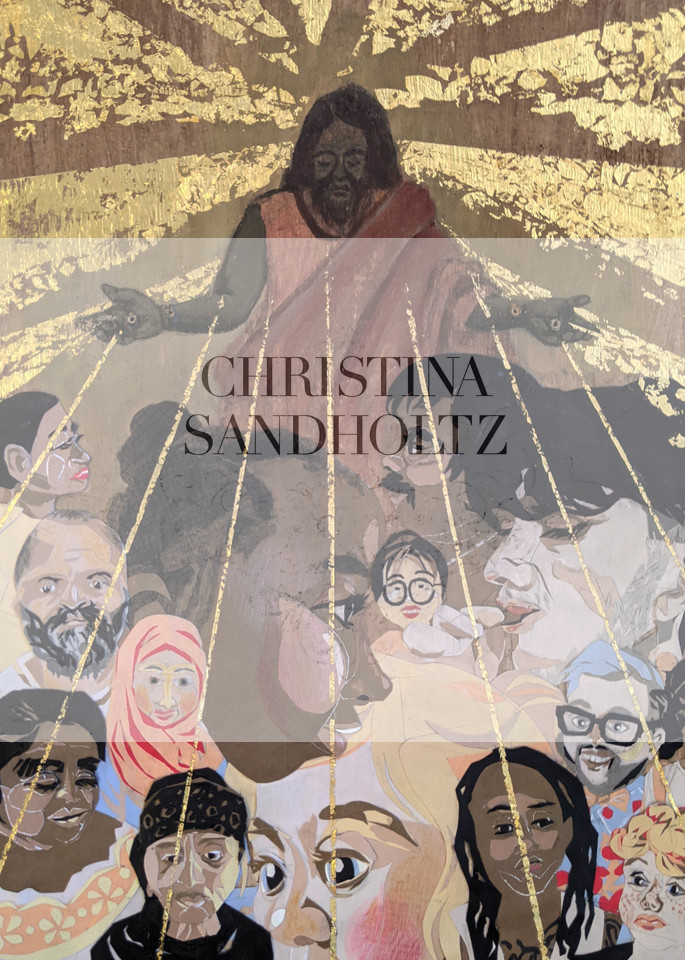 Under The Umbrella Of His Love   Print Art | Christina Sandholtz Art