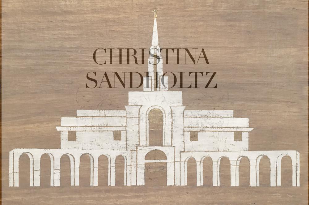 Bountiful Utah Temple Art | Christina Sandholtz Art