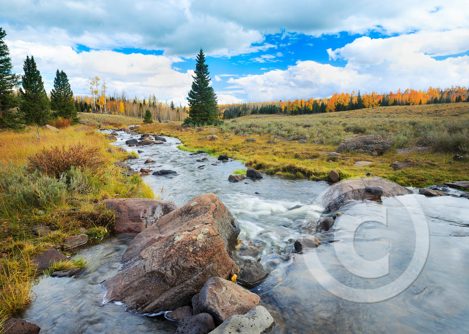 Mammoth Autumn Landscape Art Prints