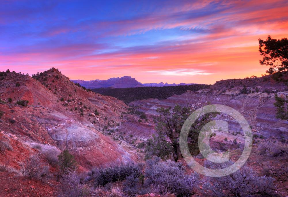 Stunning Rainbow Canyon Zion Sunrise Art Prints