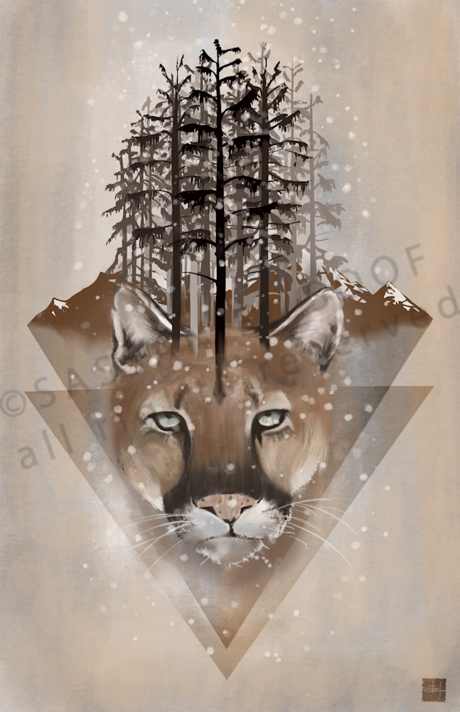 Cougar, mountain lion, puma, big cats