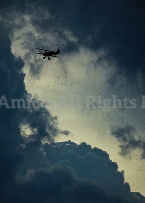 Biplane And Storm Clouds. Readington Township, New Jersey.