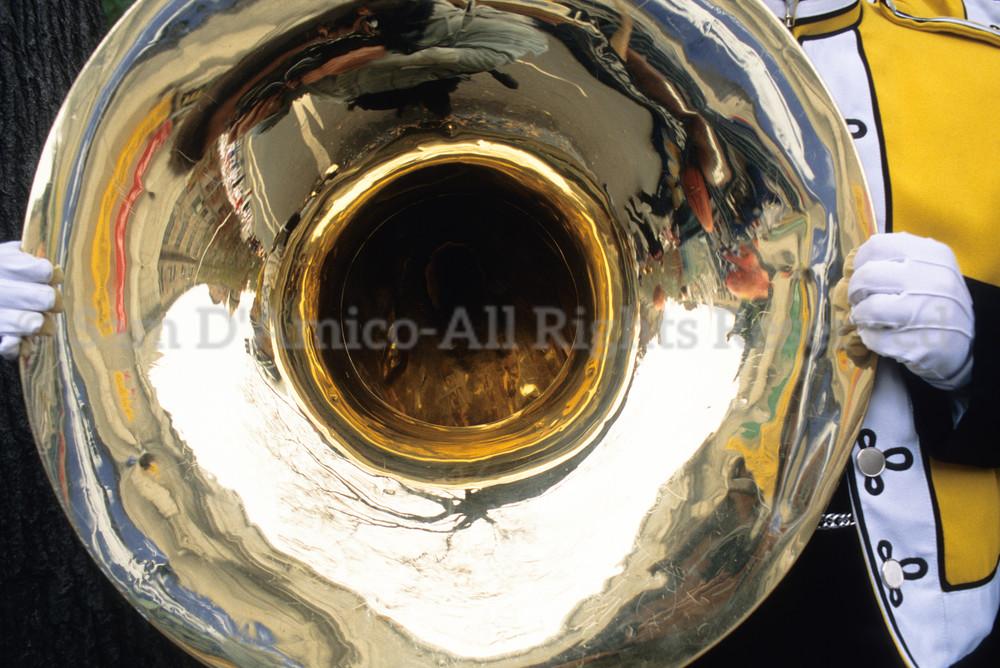 Musician And Tuba. New York, NY.