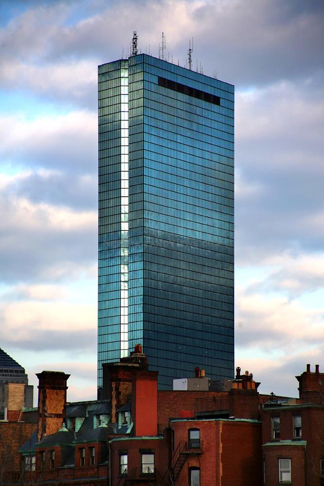 boston skyline hancock tower back bay brownstones