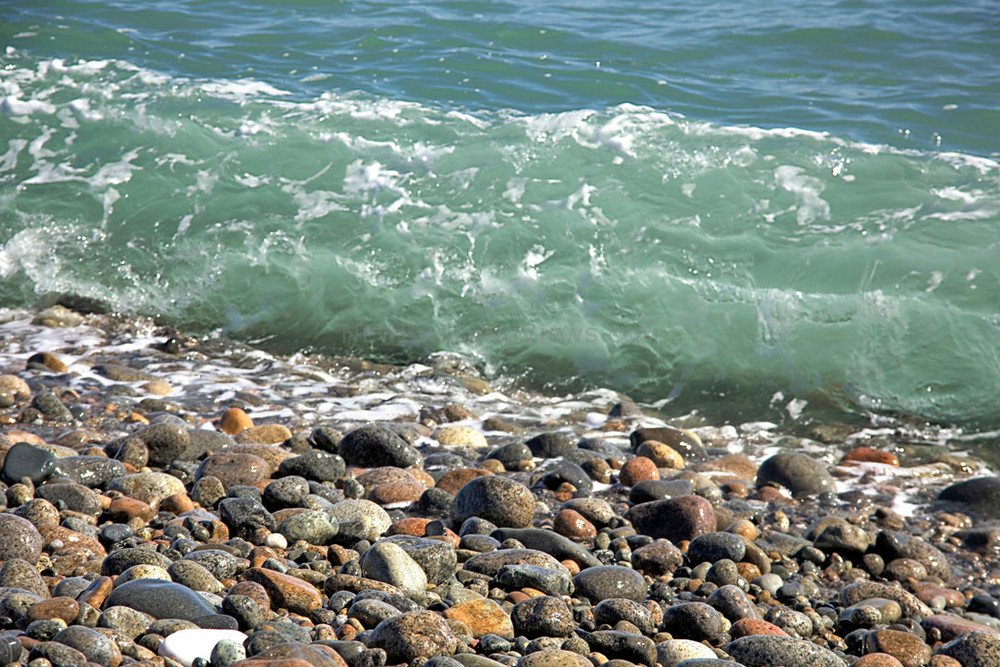 jade green wave rocks cape hedge beach seascape rockport