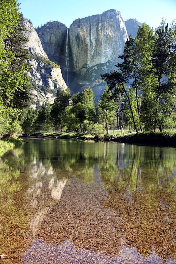 yosemite falls reflections california