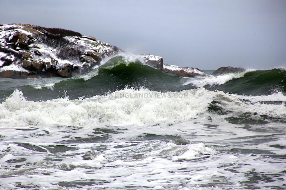 Green Wave Winter Storm Good Harbor Beach