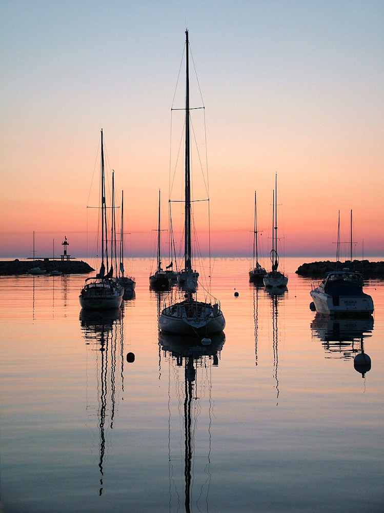 Sailboats, Sunrise, Rockport Harbor