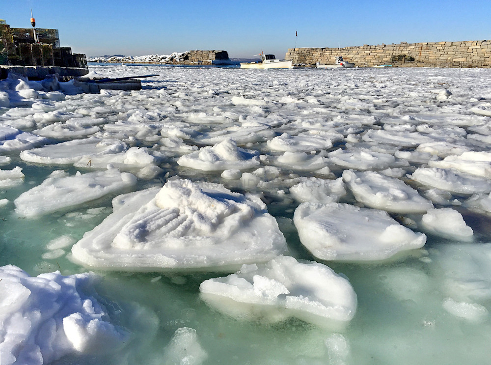 Ice, Lanes Cove, Lobster Boat, Harbor