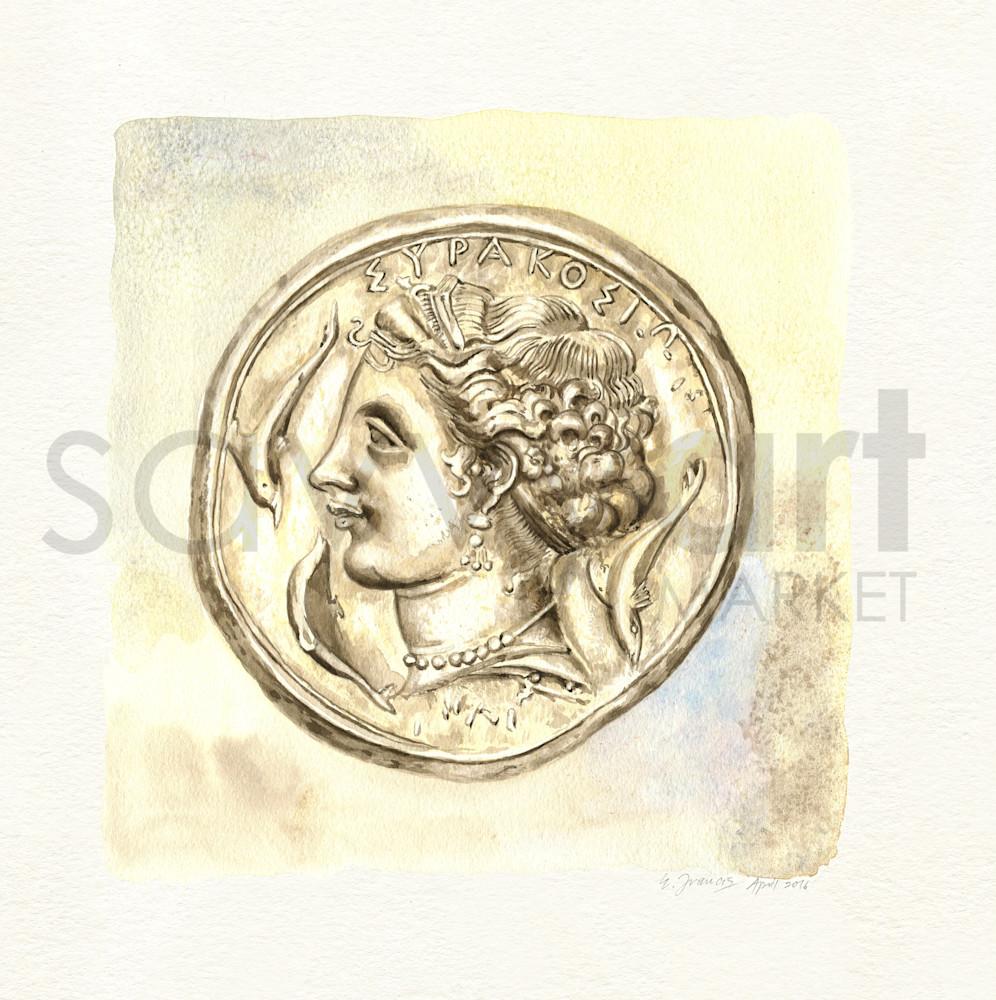Ancient Coin IV by Ernie Francis | SavvyArt Market art print