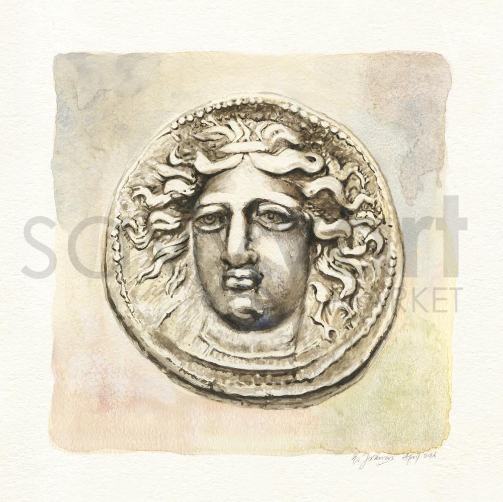 Ancient Coin II by Ernie Francis   SavvyArt Market art print