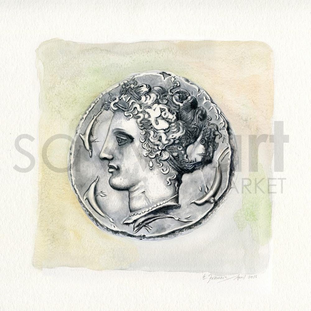 Ancient Coin V by Ernie Francis | SavvyArt Market art print