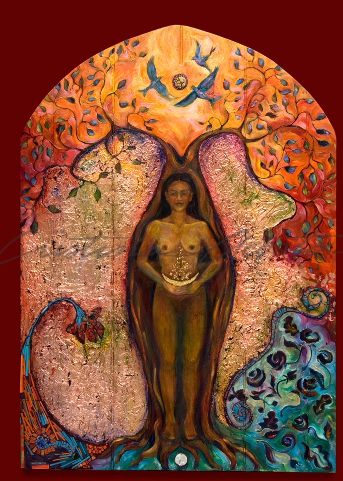 Eve And The Tree Of Knowledge  Art | Cristina Acosta Art & Design llc