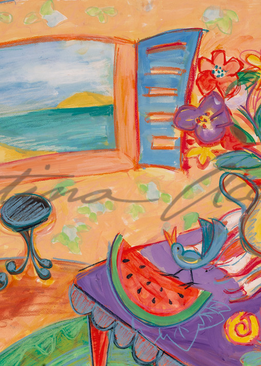 South shore Island Song cafe art Paint Happy series