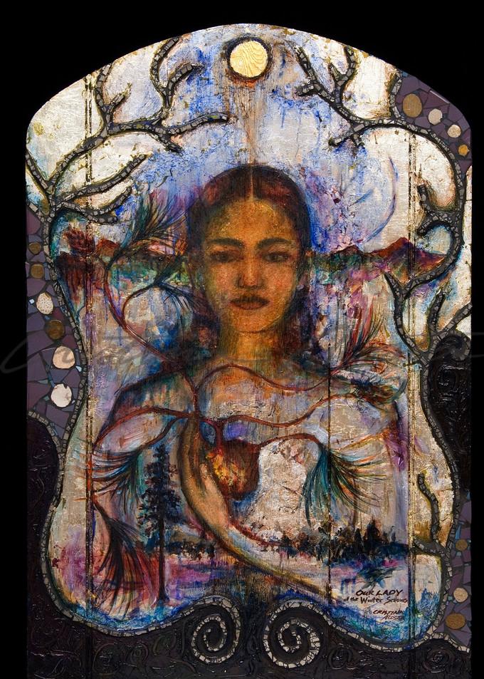 Lady of winter snows exvoto madonna retablo