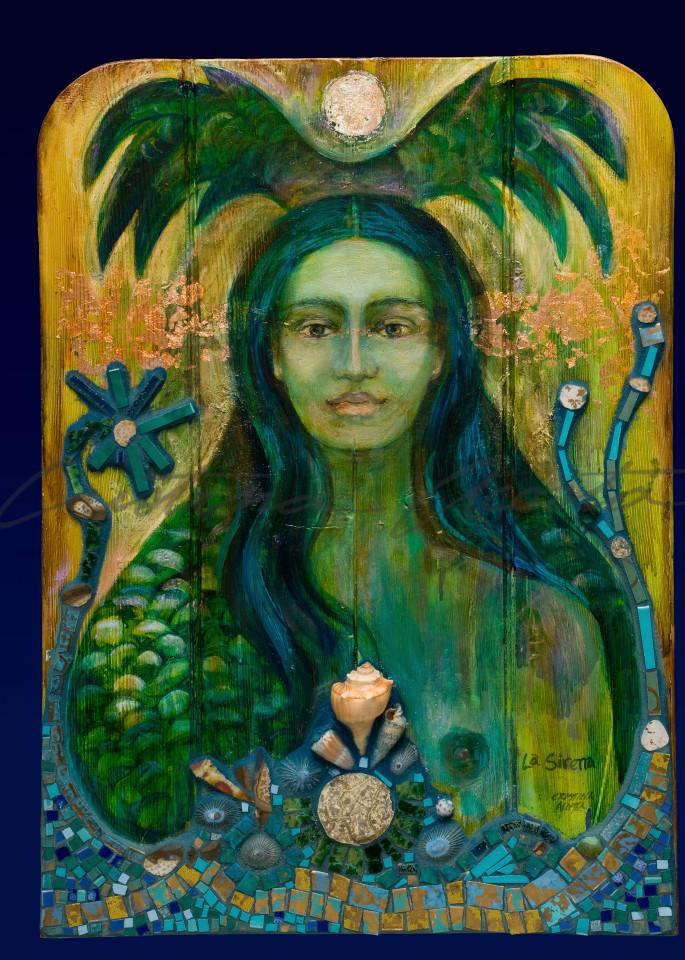 La Sirena The Green Mermaid Exvoto Retablo Altar