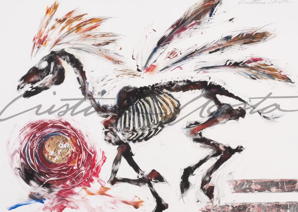 Horse Spirit Chasing Red Sun