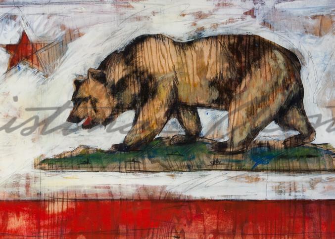 California Bear Flag by Cristina Acosta