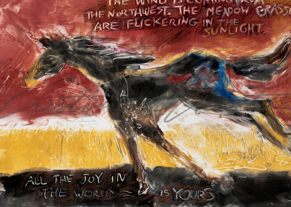 All the joy horse running art