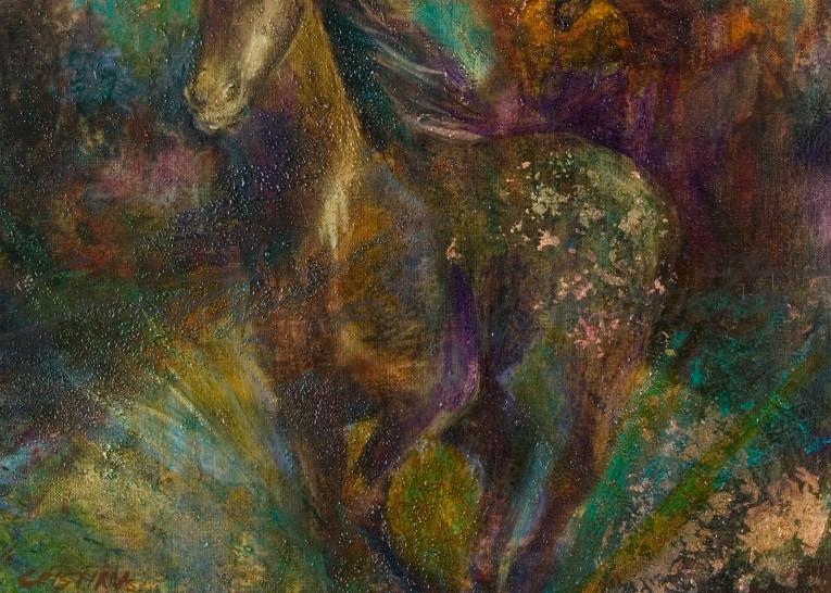 Running Horses Under Turquoise