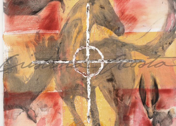 True North Horse Art with Compass