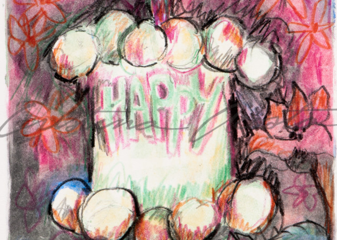 Happy Cake Ii  Art | Cristina Acosta Art & Design llc