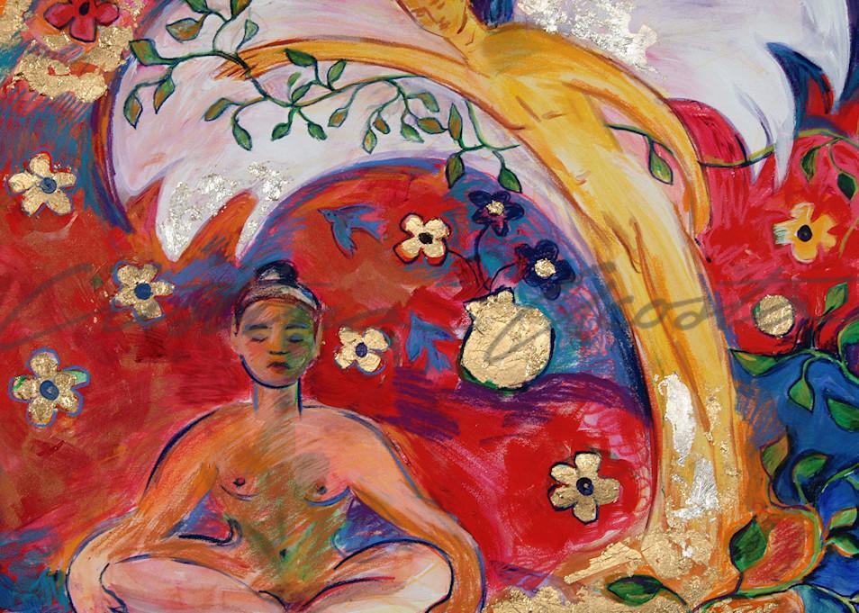 Meditation With Angel Art | Cristina Acosta Art & Design llc