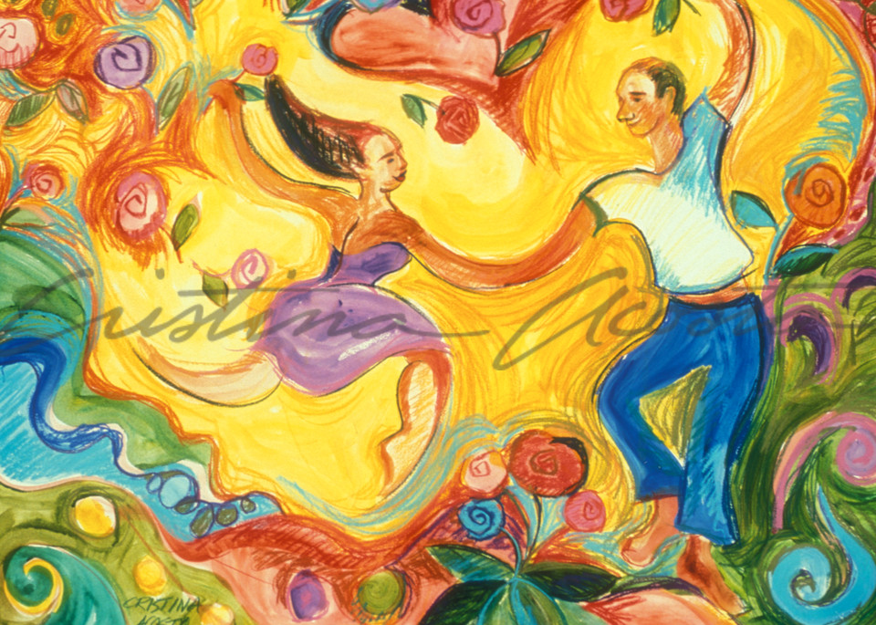 Lovers   The Dance Of Love Art | Cristina Acosta Art & Design llc