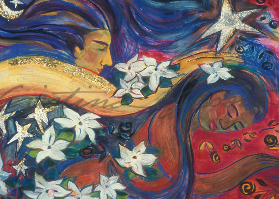 The Dreamer And Her Angel Art | Cristina Acosta Art & Design llc