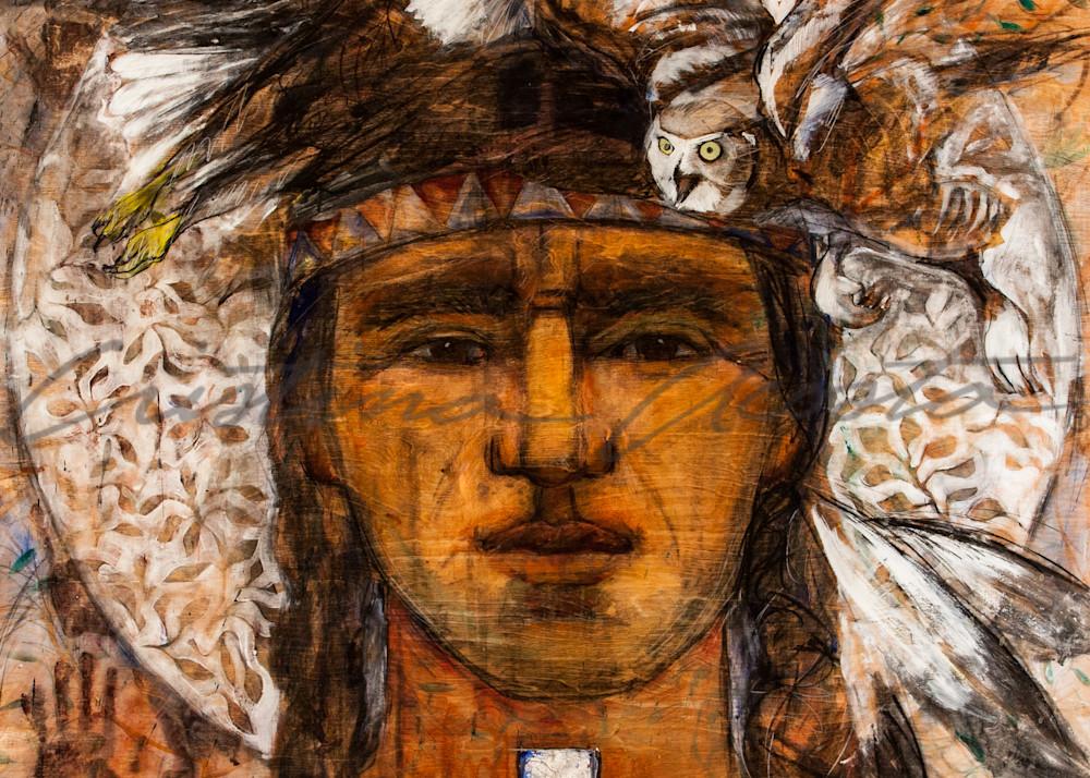 Balance of Wisdom and Strength Native American Man Art