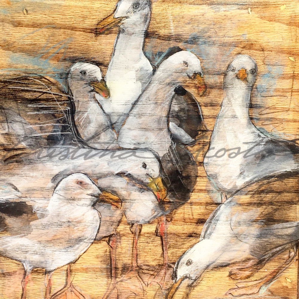 Seagull Colony Art | Cristina Acosta Art & Design llc