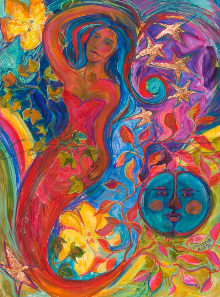 Mother Earth Starry Night Art | Cristina Acosta Art & Design llc