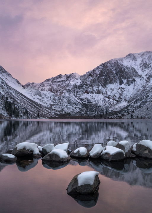 A winter sunset at Convict Lake