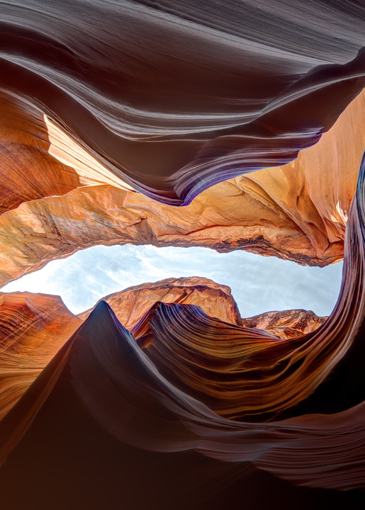 Earth's Womb in a southwestern slot canyon