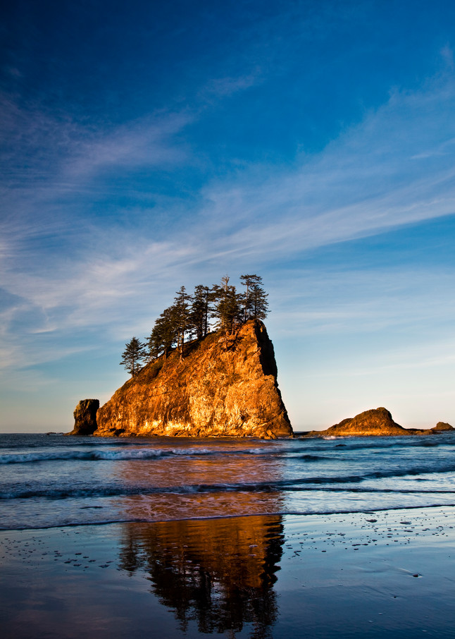 Ocean reflections in Olympic National Park