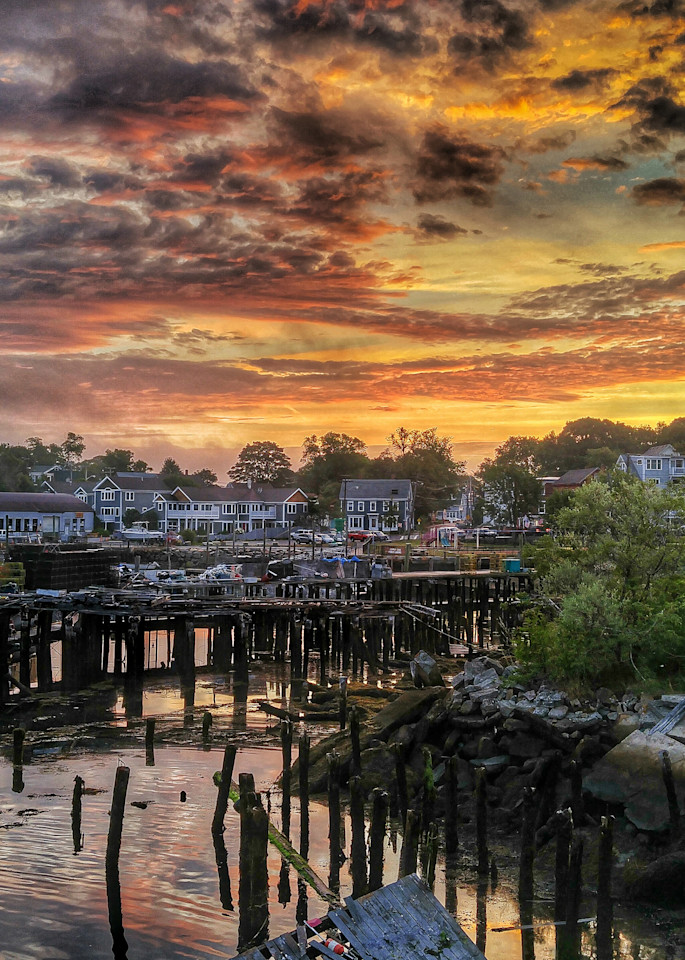 Sunrise At The Dock Art | capeanngiclee