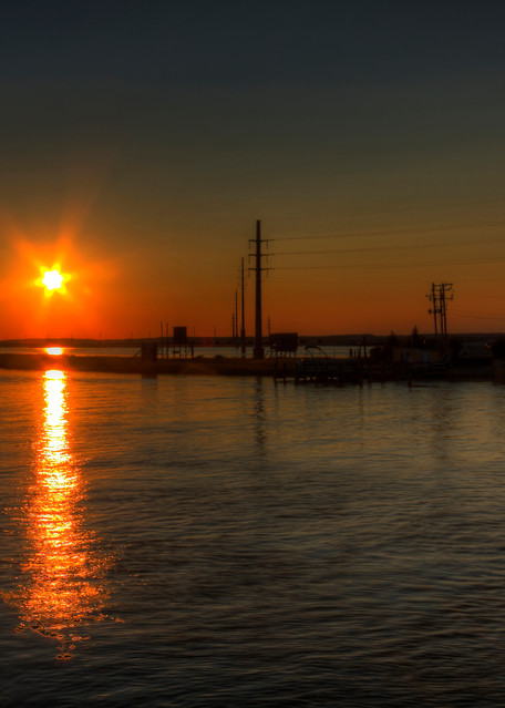 Fine Art Photographs of Chincoteague of Sunset by Michael Pucciarelli
