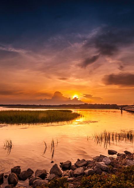 Moon River Sunset