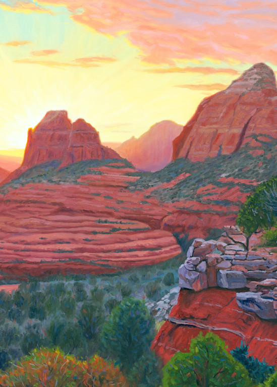 Sunset Over Mitten Ridge from Schnebly Hill