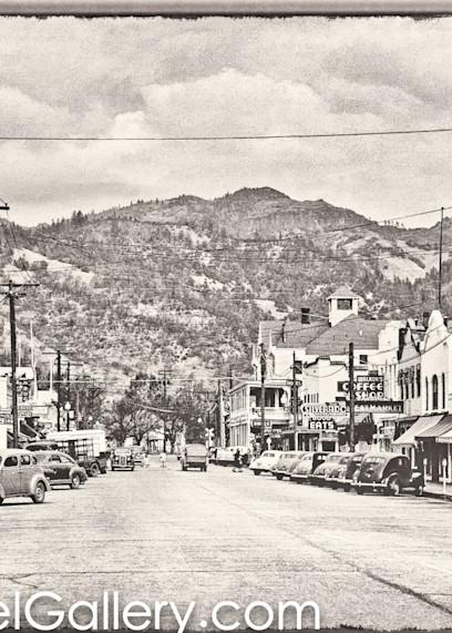 Lincoln Ave Calistoga 1940's