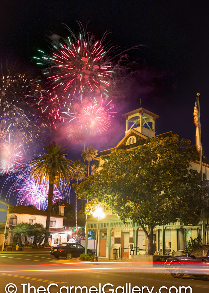 Fireworks at Town Hall Calistoga