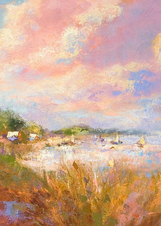 Coastal Cloud Painting, Limited Edition Print by Dorothy Fagan