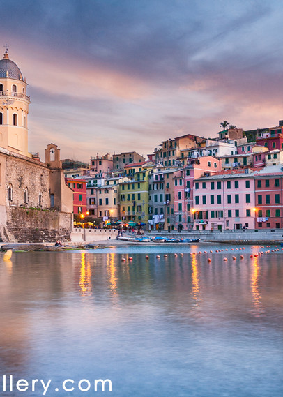 Vernazza Sunset Cinque Terre Art | The Carmel Gallery
