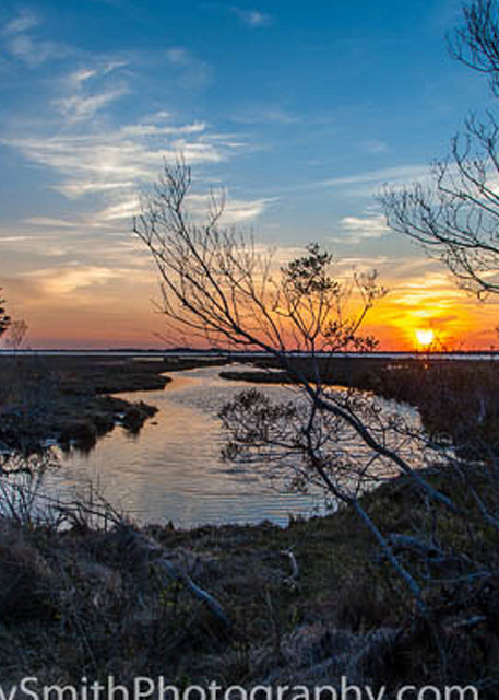 Sunset over the Marsh at Assateague, fine art photograph