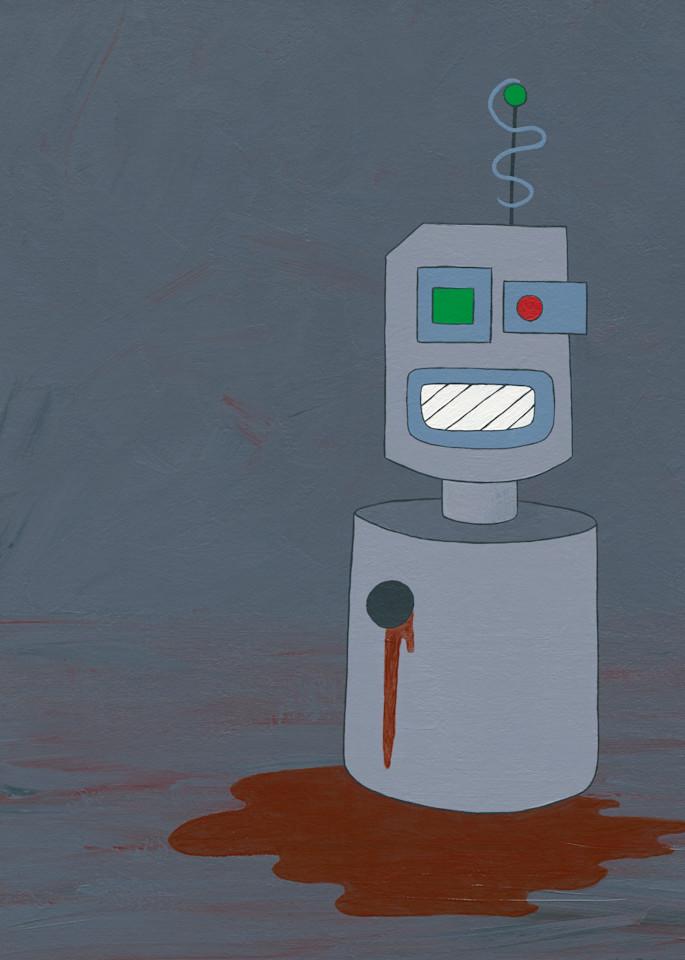 A broken robot.