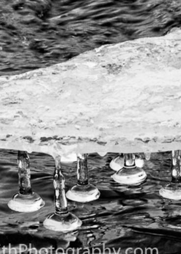 Delaware River Icicles fine art photograph